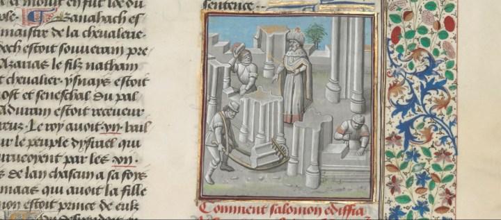 Salomon commande la construction du temple de Jérusalem.