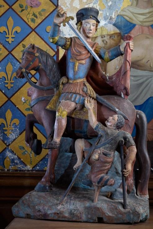 Statue de Saint Martin et le pauvre