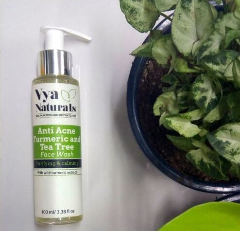 Vya Naturals Turmeric & Tea Tree Anti Acne Face Wash