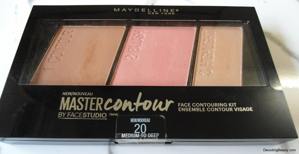 Maybelline Master Contour Face Contouring Kit - Medium to Deep Review, Swatches