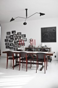 MCL-R3 Lamp and Jean Prouvé Standard Chairs