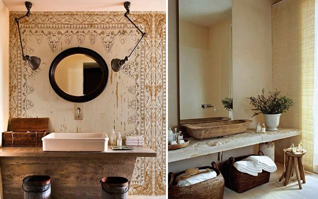 Diseño de baños con lavabos sobre encimera