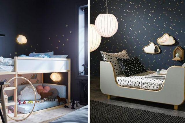 ışıklı çocuk odası dekorasyonu