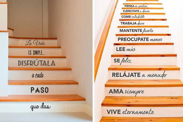 Tipografik merdiven vinilleri