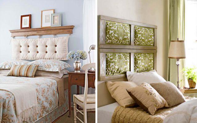 Yastık başlıklı yatak odası dekorasyonu