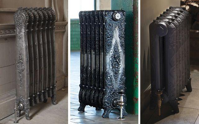 Eski dökme demir radyatörlerle dekorasyon fikirleri
