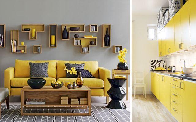 sarı-mutfak-oturma-odası-dekorasyonu