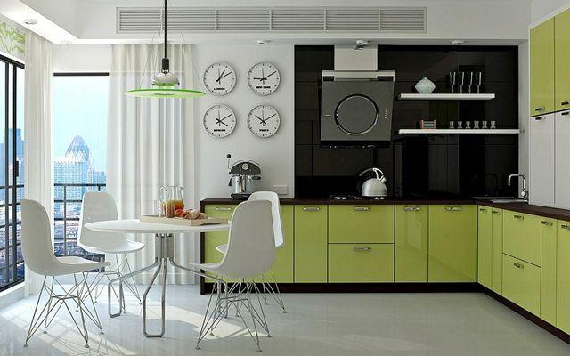 yeşil mutfak dekorasyonu