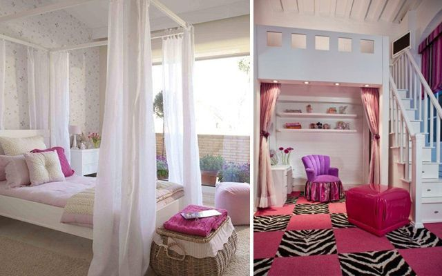 Çocuk yatak odasını pembe renkte dekore etme fikirleri