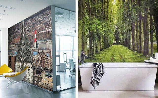 Çeşitli ebat ve temalarda fotoğraf duvar resimleri ile duvar dekorasyonu
