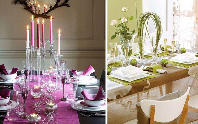 2013 Noel masalarını dekore etme fikirleri