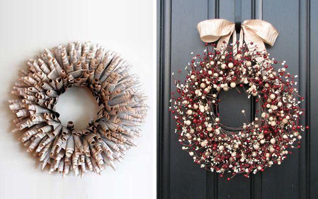 Noel'de süsleme fikirleri - Modern Noel çelenkleri