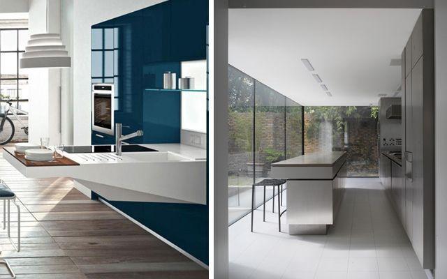 Avangart modern mutfak dekorasyonu