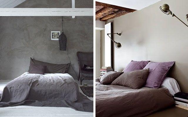 alçak yataklı yatak odası dekorasyonu