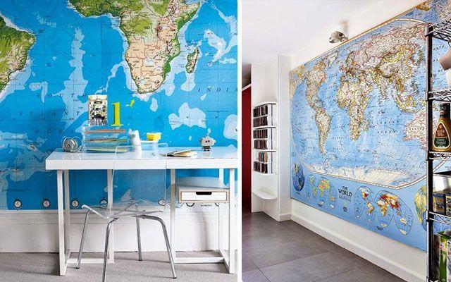 Haritalarla süsleme fikirleri