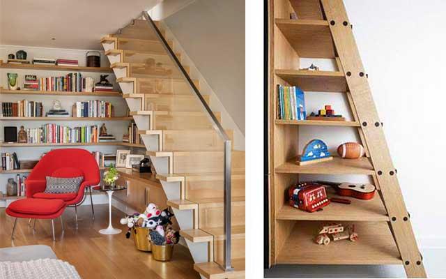 Raflı merdiven altından nasıl yararlanılır