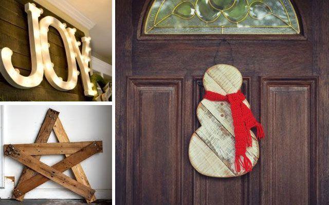 DIY Noel dekorasyonu: Noel'i paletlerle dekore etme fikirleri