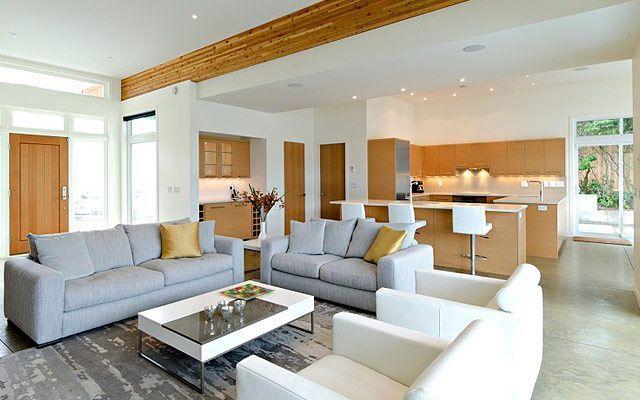 Oturma odasına entegre mutfaklar