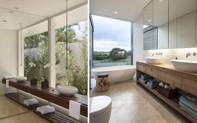 İki kişilik bir banyo dekorasyonu