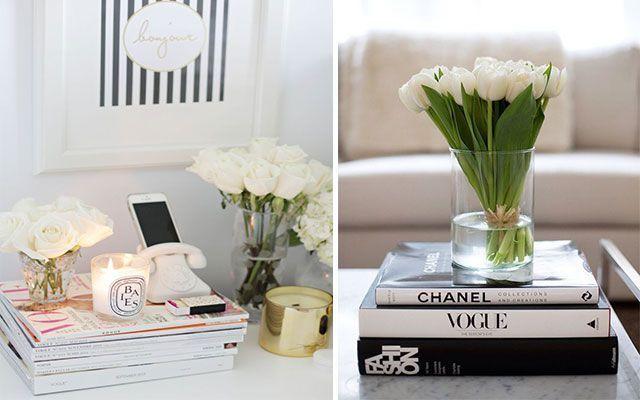 Kitaplar ve dergilerle süsleyin