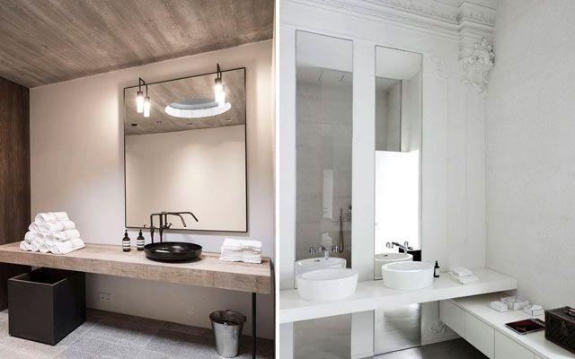 Tezgah üstü lavabolu banyo tasarımı