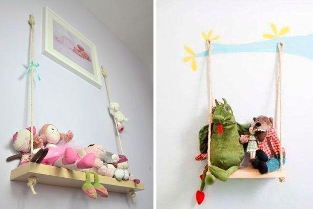 Asma raflarla dekorasyon fikirleri