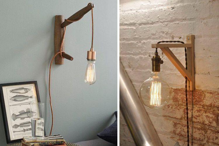 Endüstriyel ve çağdaş tarz duvar lambaları