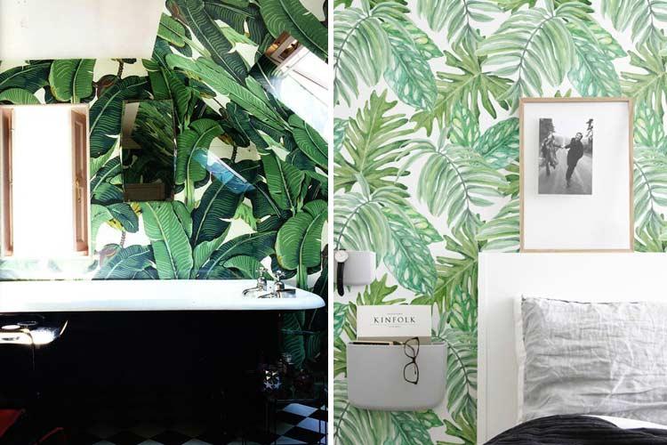 Evinizi dekore etmek için tropikal baskılar
