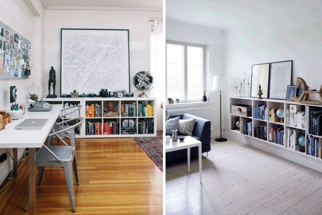 Evinizi dekore etmek için alçak raflar