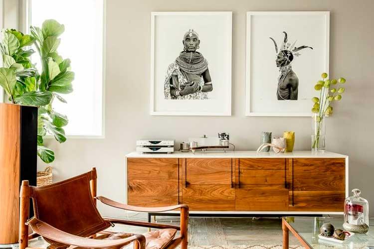 Duvarı kabile fotoğrafçılığı ile dekore etme fikirleri