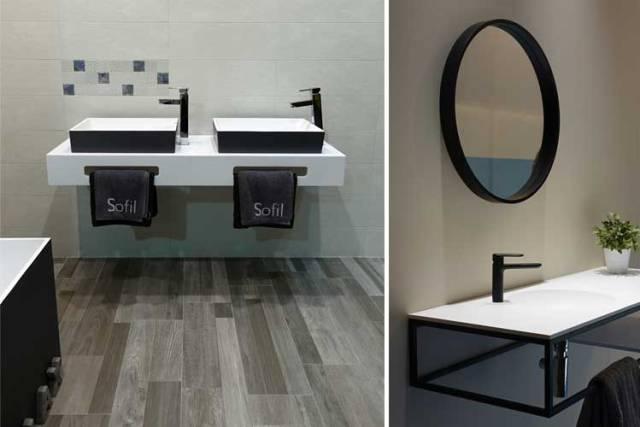 Siyah banyo mobilyaları