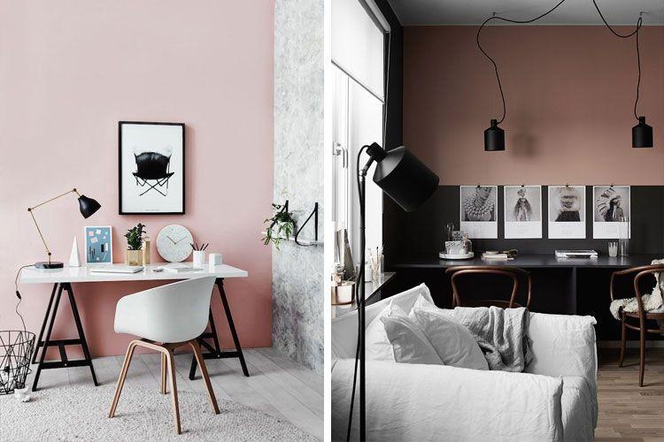 Pembe duvarlar boyalı