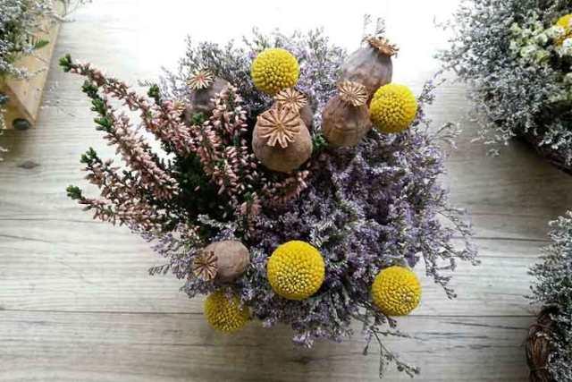 kurutulmuş çiçekler