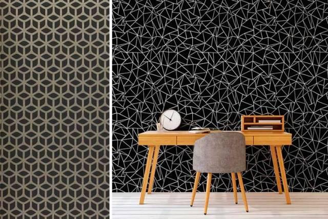 Siyah duvar kağıdı ile nasıl dekore edilir