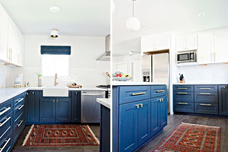 Mavi mutfak dekorasyonu
