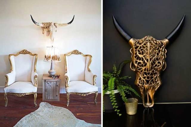 Bufalo kafalarıyla dekorasyon fikirleri