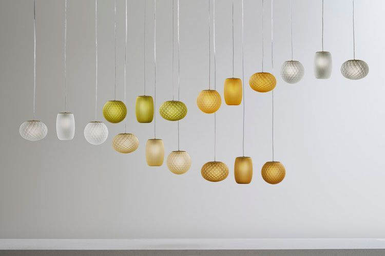 Renkli cam sarkıt lambalar