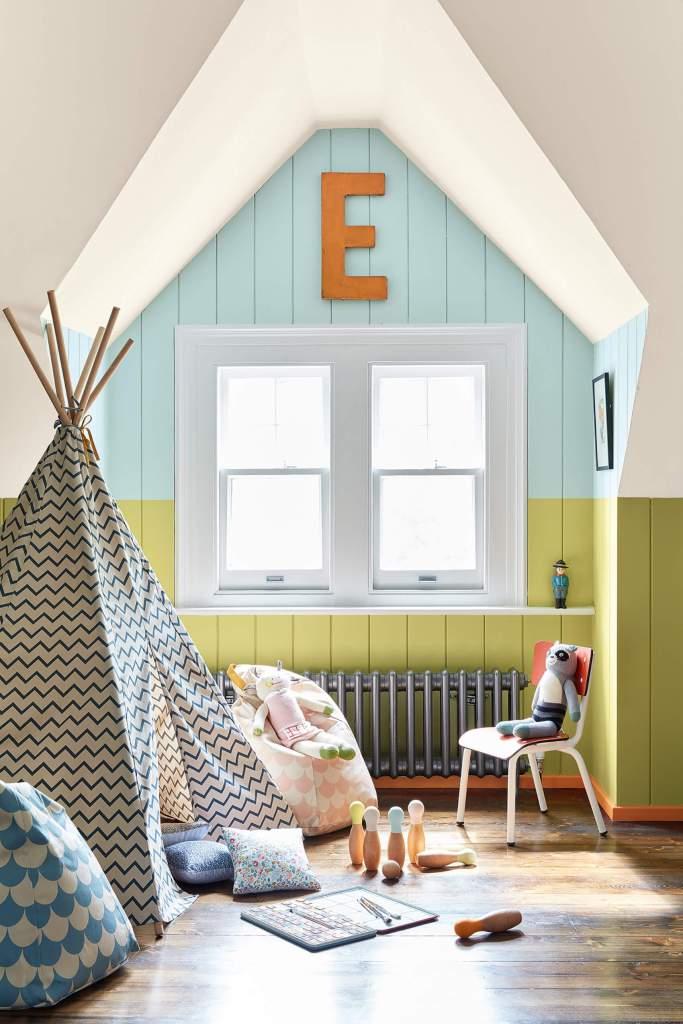 Une peinture colorée parfaitement adaptées aux chambres d'enfants