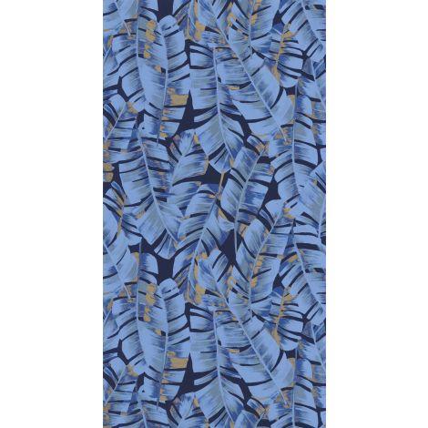 Décor papier peint Folium Bleu encre