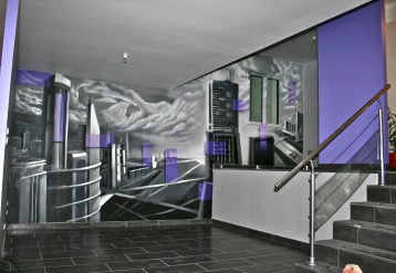 decor murale ville