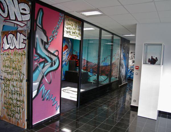 graffiti interieur entreprise