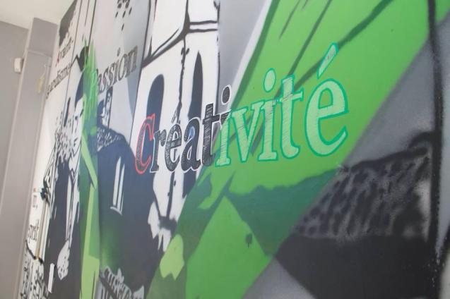 graffiti moderne entreprise