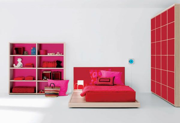 red dream interior design ideas for teenage girls room