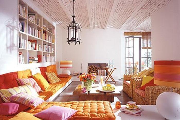 Parisian boho style interior design for Bohemian chic living room makeover