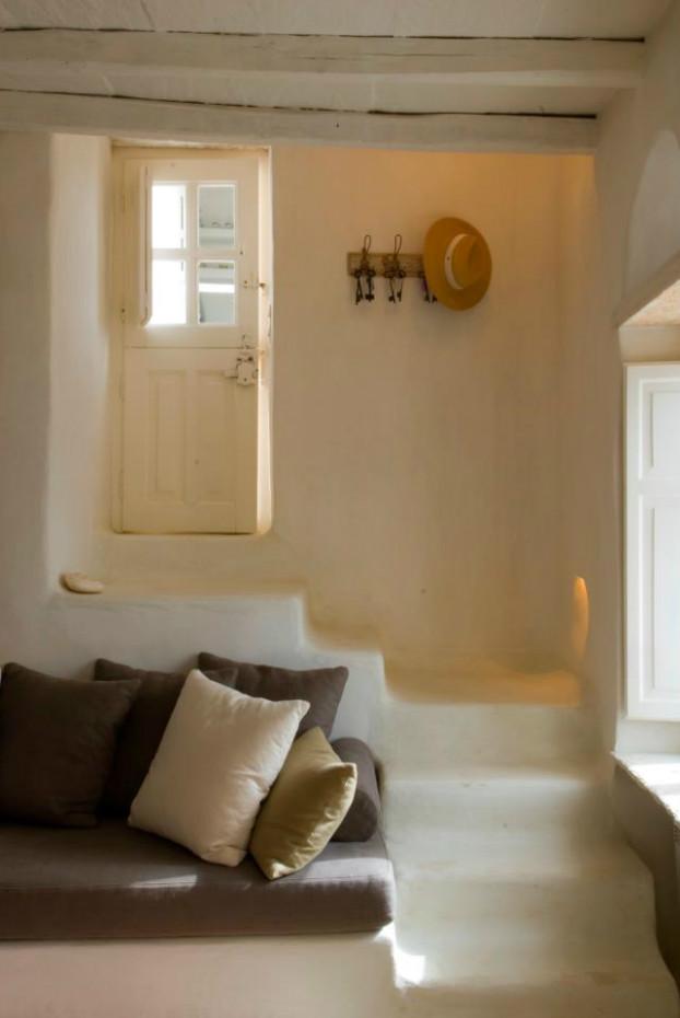 Blanco y turquesa para una casa Grecia