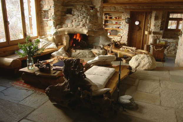 Traditional Stone House For A Way Of Life Simple And