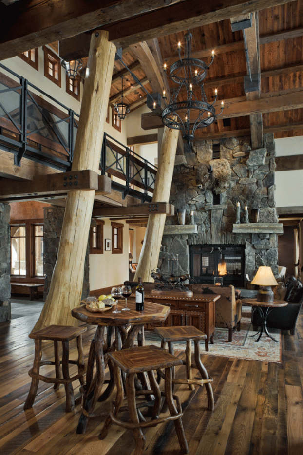 Family Room Decorating Ideas Rustic
