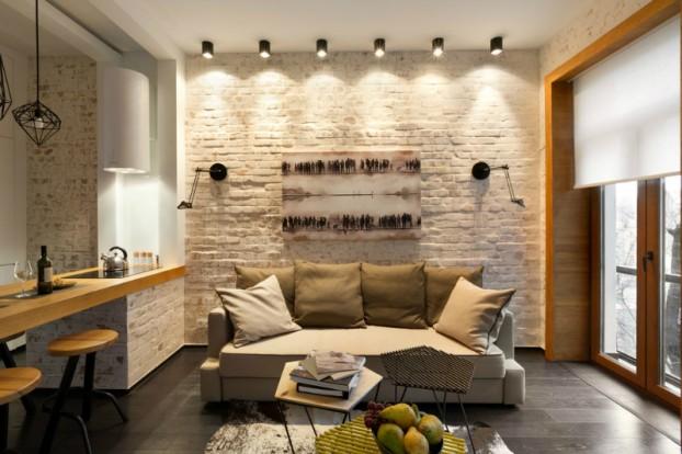 Contemporáneo de 40 metros cuadrados 430 pies cuadrados Apartamento 16