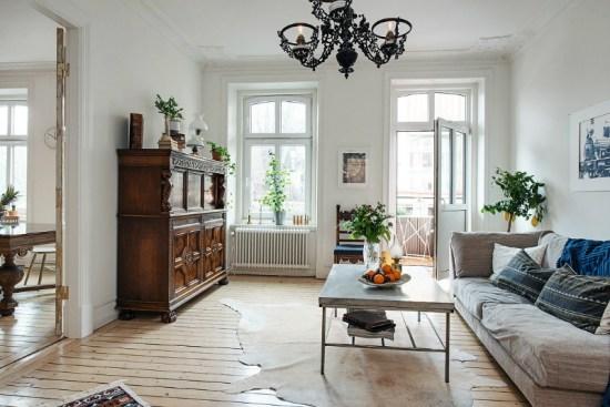 eclectic scandinavian home interior 12