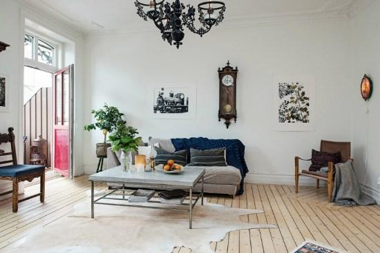 eclectic scandinavian home interior 15